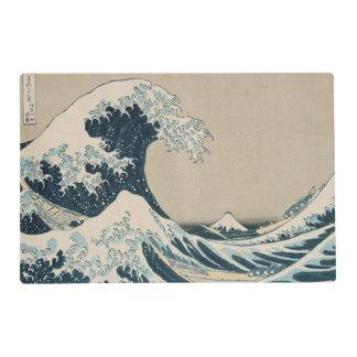La gran onda de Kanagawa, vistas del monte Fuji Salvamanteles