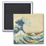 La gran onda de la orilla de Kanagawa Imanes De Nevera