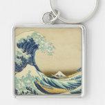 La gran onda de la orilla de Kanagawa Llaveros Personalizados