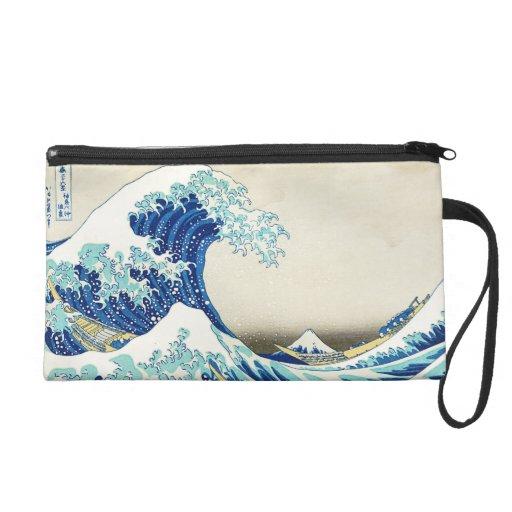 La gran onda de la orilla del mitón de Kanagawa
