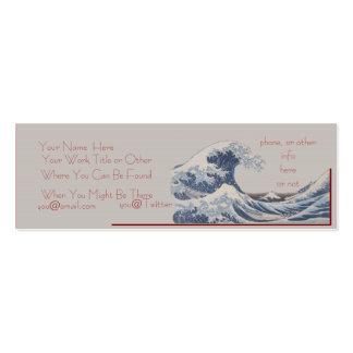 La gran onda de la tarjeta de visita flaca de Kana