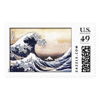 La gran onda del arte del japonés de Kanagawa Timbres Postales
