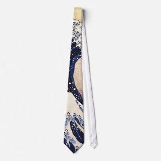 La gran onda del arte del japonés del vintage de corbatas personalizadas