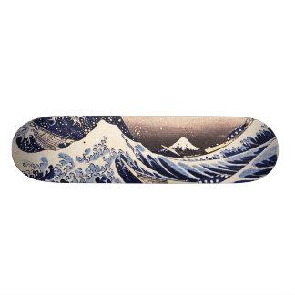 La gran onda del arte del japonés del vintage de K Patín Personalizado