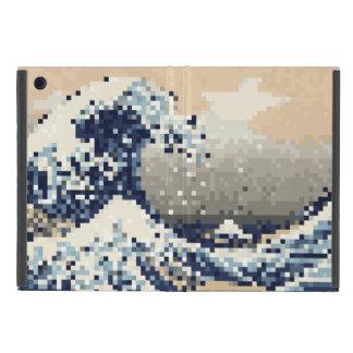 La gran onda del arte del pixel del pedazo de iPad mini carcasas