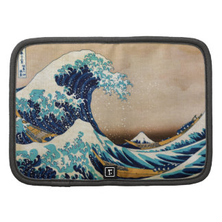 La gran onda del japonés del vintage de Hokusai Organizador