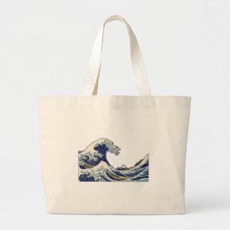 La gran onda del llano de Kanagawa Bolsa Tela Grande