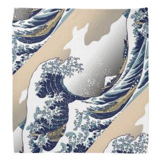 La gran onda del pañuelo de Kanagawa Bandanas