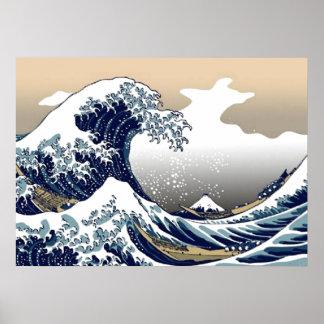 La gran onda del poster de Kanagawa