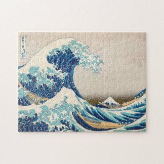 La gran onda en el rompecabezas de Kanagawa