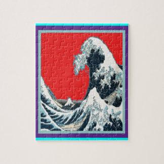 La gran onda en rojo diseñó por Sharles Puzzle Con Fotos
