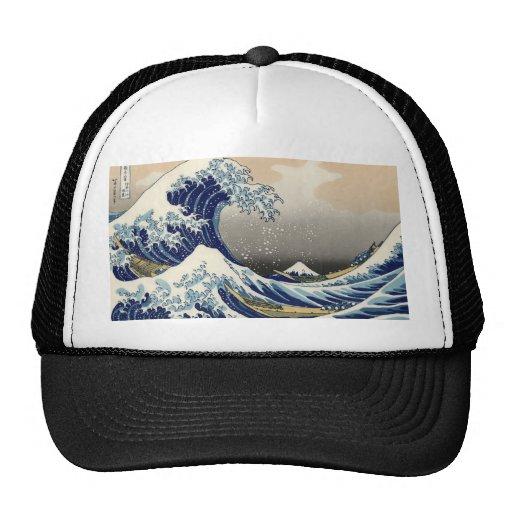 la gran onda gorros bordados