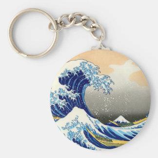 La gran onda llavero personalizado