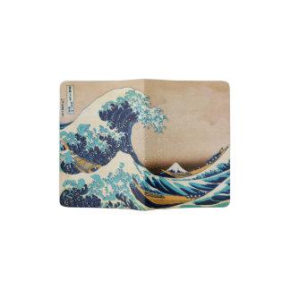 La gran onda por arte del japonés de Hokusai Porta Pasaporte