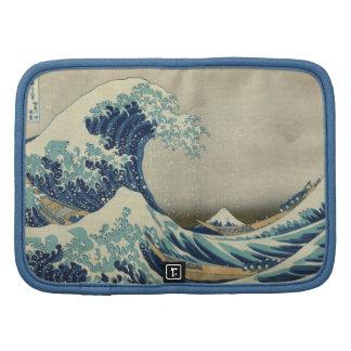 La gran onda por Hokusai, arte del japonés del Organizadores
