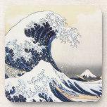 La gran onda por Hokusai Posavasos De Bebida