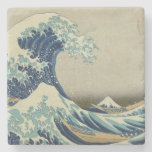La gran onda posavasos de piedra