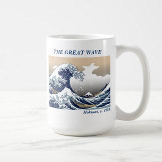 """La gran onda "" Taza Básica Blanca"