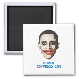 La gran opresión imán cuadrado