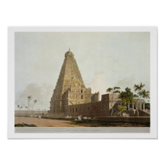 La gran pagoda, Tanjore, placa XXIV de 'Oriente Póster