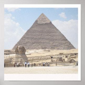 La gran pirámide de Giza, Eygpt Póster