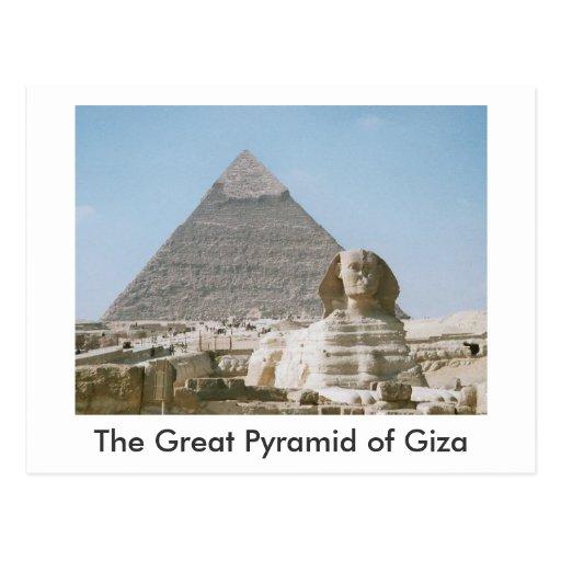 La gran pirámide de Giza Postal