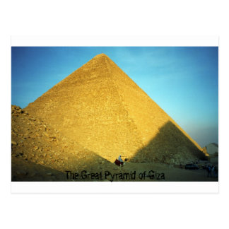 La gran pirámide de Giza Tarjeta Postal