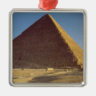 La gran pirámide del viejo reino de Khufu Ornamento Para Reyes Magos