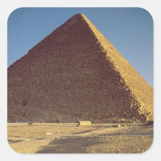 La gran pirámide del viejo reino de Khufu Calcomanía Cuadradas Personalizada