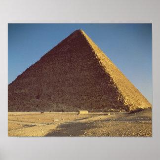 La gran pirámide del viejo reino de Khufu Póster