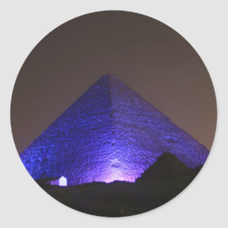 La gran pirámide pegatina redonda