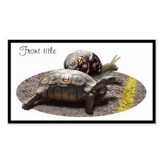 La gran raza de la tortuga y del caracol tarjetas de visita