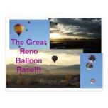 ¡La gran raza del globo de Reno!!! Tarjetas Postales