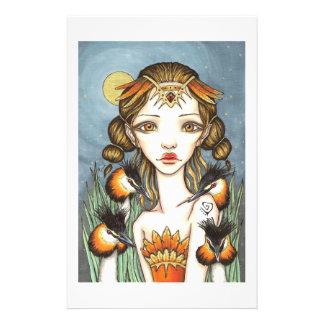 La gran reina del Grebe con cresta Papeleria Personalizada