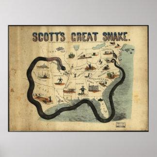 La gran serpiente de Scott Impresiones