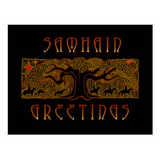 La gran tarjeta de Samhain del árbol Postal