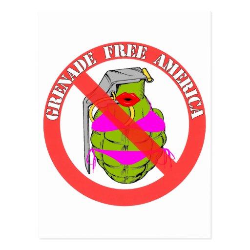 La granada libera América Postales