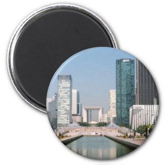 La Grande Arche La Defense, Paris 2 Inch Round Magnet