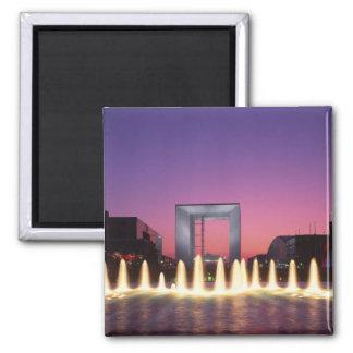 La Grande Arche, La Defense, Paris, France 2 Inch Square Magnet
