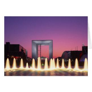 La Grande Arche, La Defense, Paris, France Card