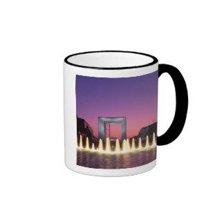 La Grande Arche, La Defense, Paris, France Ringer Coffee Mug