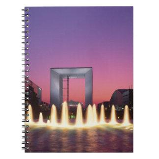 La Grande Arche, La Defense, Paris, France Notebook