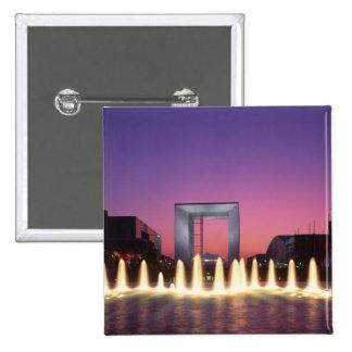 La Grande Arche, La Defense, Paris, France Pinback Button