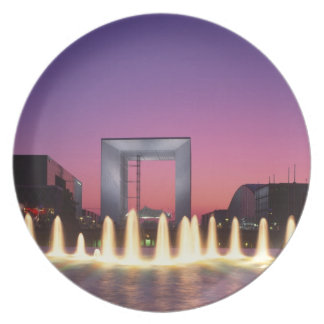 La Grande Arche, La Defense, Paris, France Plate