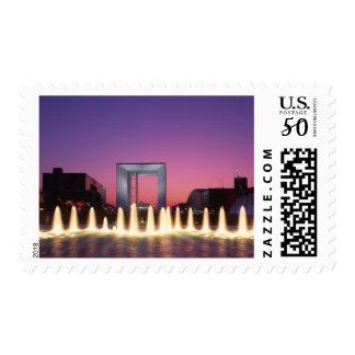 La Grande Arche, La Defense, Paris, France Postage