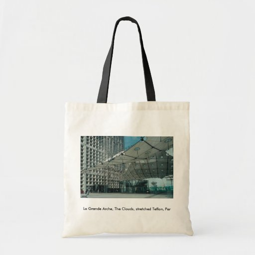 La Grande Arche, The Clouds, stretched Teflon, Par Tote Bags