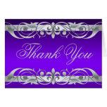 La grande duquesa púrpura y de plata le agradece N Tarjetas