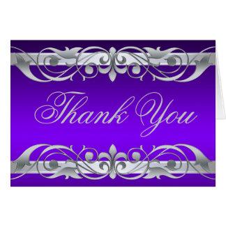 La grande duquesa púrpura y de plata le agradece tarjeta pequeña