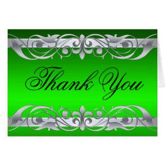 La grande duquesa verde y plata le agradece tarjeta pequeña