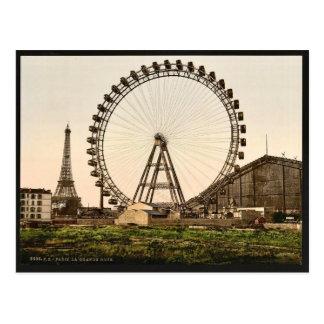 La grande rue (i.e., roue), Paris, France classic Postcard